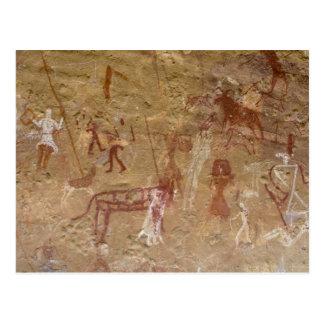 Prehistoric rock paintings, Akakus, Sahara Postcard