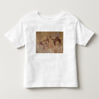 Prehistoric rock paintings with camels and toddler T-Shirt