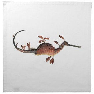 Prehistoric Seahorse Napkin