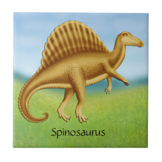 Prehistoric Spinosaurus Dinosaur Ceramic Tile