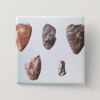 Prehistoric stone tools, from Grotte de 15 Cm Square Badge