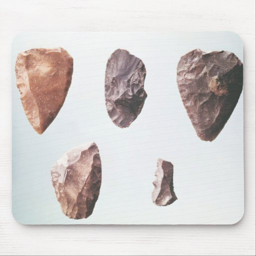 Prehistoric stone tools, from Grotte de Mousepads