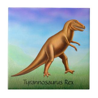 Prehistoric Tyrannosaurus Dinosaur Ceramic Tile