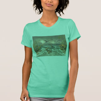 prehistoric world antique dinosaur print T-Shirt