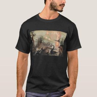 Prehistoric World Antique Print T-Shirt