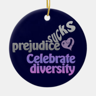 Prejudice Sucks custom ornament