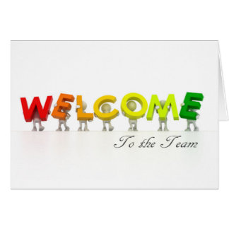 Premiere Series - Welcome To The Team Card