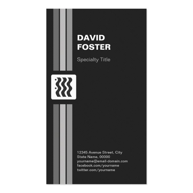 premium black and white double sided personal business card templates. Black Bedroom Furniture Sets. Home Design Ideas