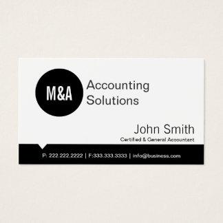 Premium Black Dot Accounting Business Card
