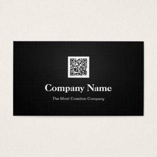 Premium Black White Company Business QR Code Logo Business Card