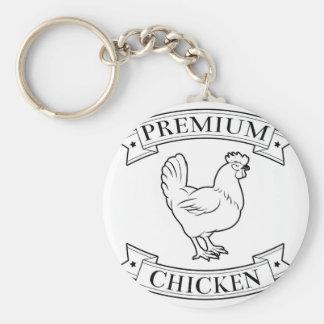 Premium chicken icon keychain