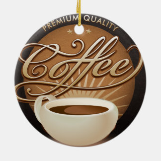 Premium Coffee and Coffee Cup Christmas Ornament