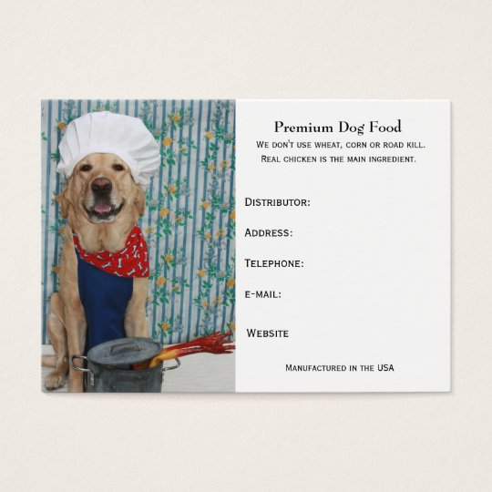 Premium Dog Food Business Card