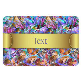 Premium Flexi Magnet Floral Abstract Stained Glass