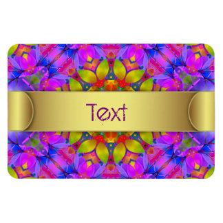 Premium Flexi Magnet Floral Fractal Art G445