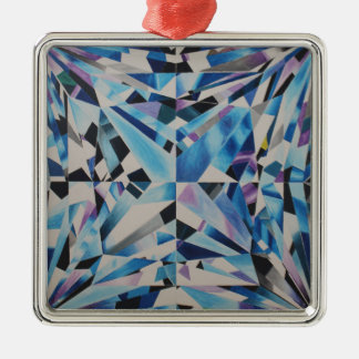 Premium Glass Diamond Square Ornament