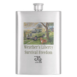 "Premium Hip Flask ""Farm"""