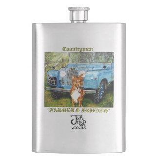 "Premium Hip Flask: ""Farmer's Friends"" Flask"