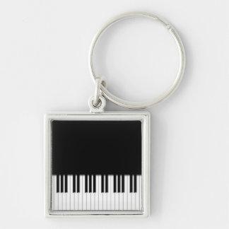 Premium Keyring - Piano Keys black white