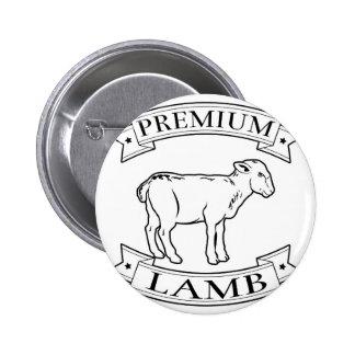 Premium lamb food label pin