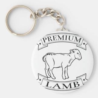 Premium lamb food label keychain