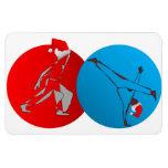 Premium Magnet CAPOEIRA martial arts santa axe