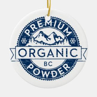 Premium Organic British Columbia Powder Christmas Ornament