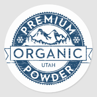 Premium Organic Utah Powder Sticker