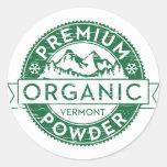 Premium Organic Vermont Powder Sticker