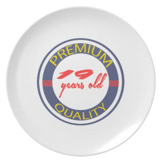 Premium quality 19 years old plate