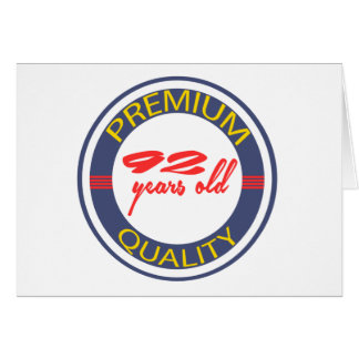 Premium quality 92 years old greeting cards