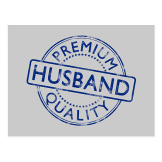 Premium Quality Husband Postcard