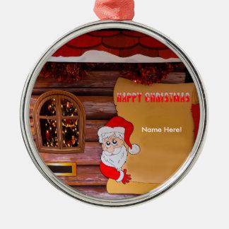 Premium-Round-Ornament Silver-Colored Round Decoration