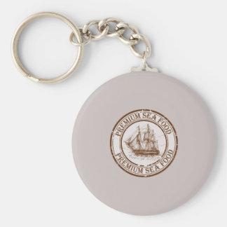 Premium Sea Food Travel Stamp Basic Round Button Keychain