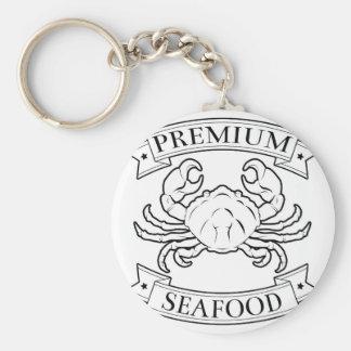 Premium seafood icon key chains