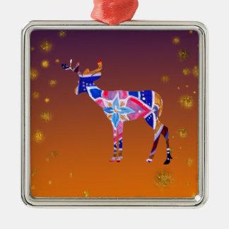 Premium Square Ornament Mandala Deer