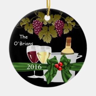 Premium WINE LOVERS 2016 ORNAMENT PERSONALIZED