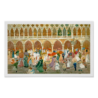 Prendergast: Sunlight in St. Mark's Square Poster