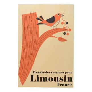 Prendre des vacances pour Limousin France . Wood Print