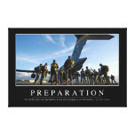 Preparation: Inspirational Quote Canvas Print