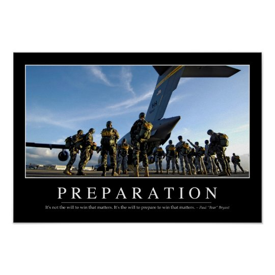 Preparation: Inspirational Quote Poster