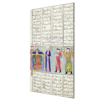 Preparation of the feast ordered by Feridun Canvas Print
