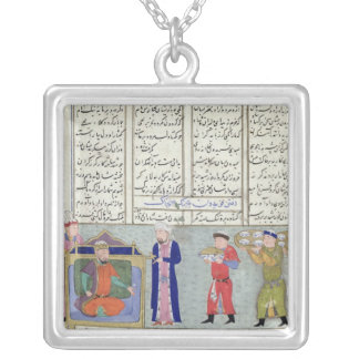 Preparation of the feast ordered by Feridun Silver Plated Necklace