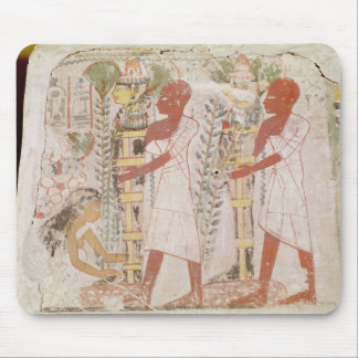 Preparation two mummies for purification ceremony mouse mat