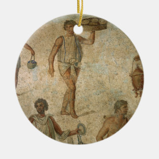 Preparations for a banquet, fragment of marble, li christmas ornament