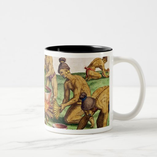 Preparations for a Feast, from 'Brevis Coffee Mug