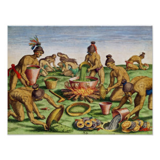 Preparations for a Feast, from 'Brevis Poster