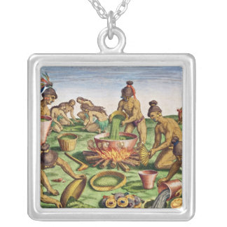 Preparations for a Feast, from 'Brevis Silver Plated Necklace