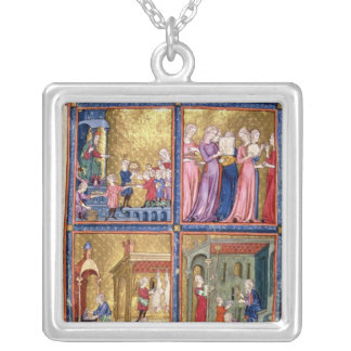 Preparations for the Passover Silver Plated Necklace