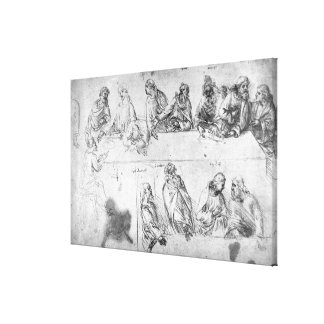 Preparatory drawing for the Last Supper Canvas Print